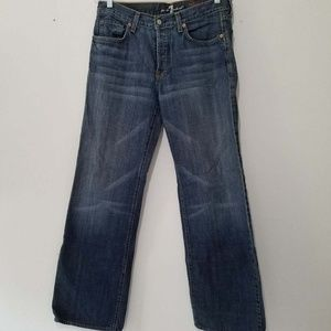 7 For All Mankind relaxed blue jeans size 33/34